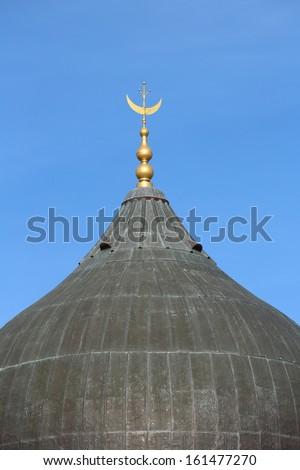 Religious Symbol Golden Crescent Moon Unusual Stock Photo 100