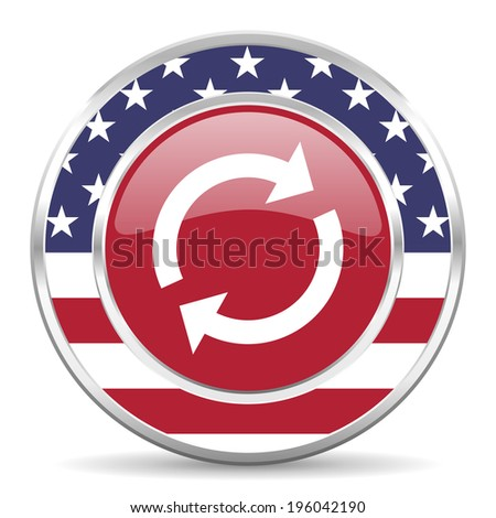 reload american icon, usa flag - stock photo