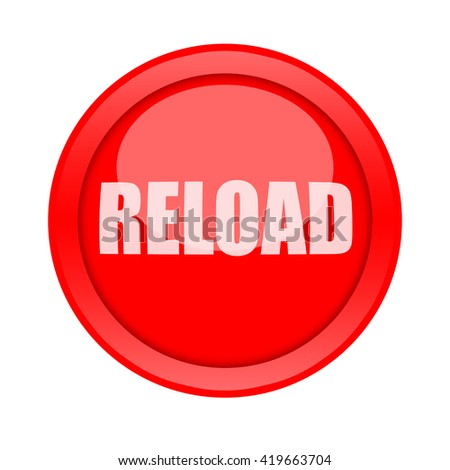 Reload button - stock photo