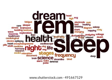 REM Sleep Word Cloud Concept Stock Illustration 491667529 ...