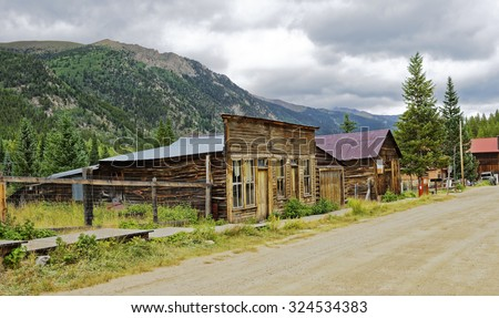 Remaining buildings in the silver mining quasi-ghost town of St. Elmo near Buena Vista, Colorado, U.S.A.