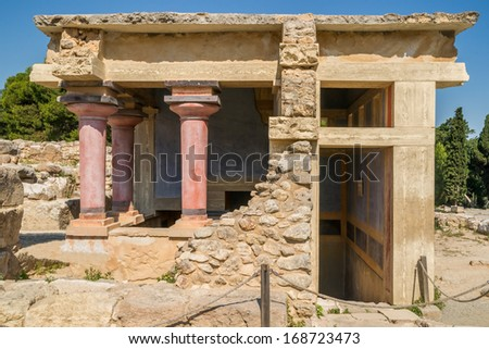 Remainings of an ancient bath house at the archaeological site of Knossos