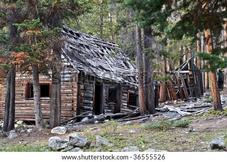 Remains of homes found in the ghost town of Coolidge, Montana