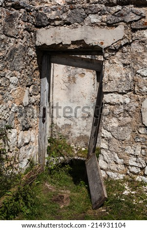 remains of the first world war in the mountains of Alto Adige - Italy - stock photo