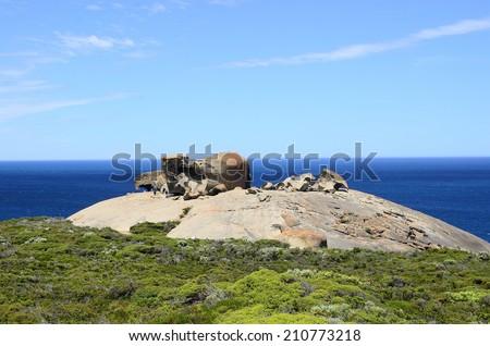 Remarkable Rocks, Flinders Chase National Park, Kangaroo Island, South Australia - stock photo