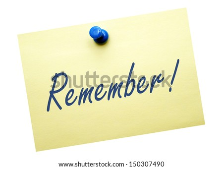 Remember ! - stock photo