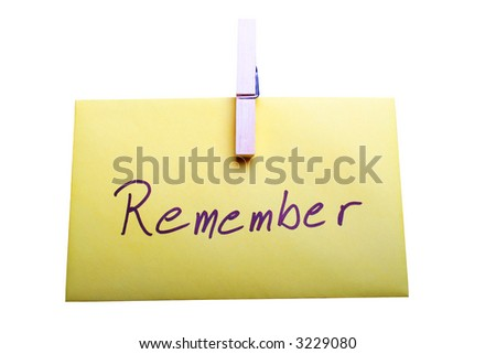 Remember - stock photo