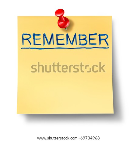 remember reminder office note isolated