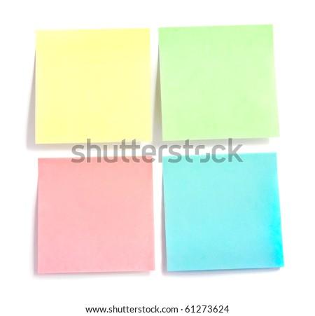 Reminder notes isolated on white background - stock photo