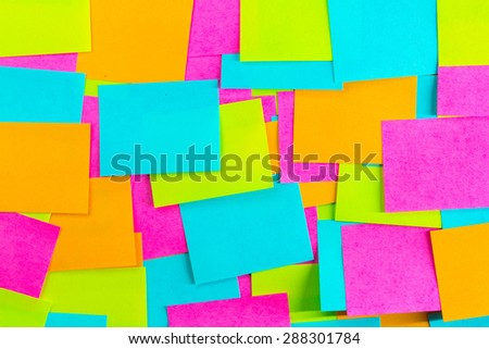 Reminder notes post it - stock photo