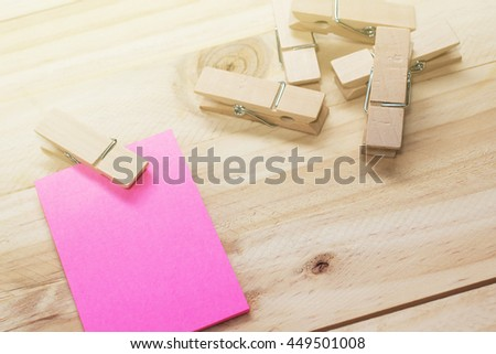 reminder sticky notes on wooden board,selective focus / copy space - stock photo
