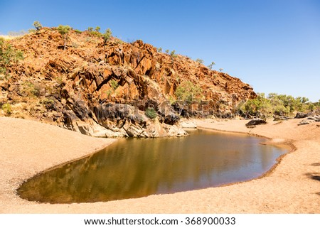 Remote and peaceful Mary Pool near Mary River. Nearest big town is Fitzroy Crossing.