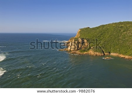 Remote and Wild the Garden Route Coastline of South Africa - stock photo