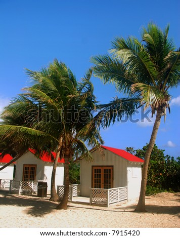 Remote beach cabins