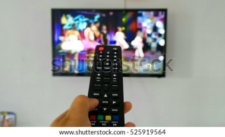remote, blurry background, blurry television