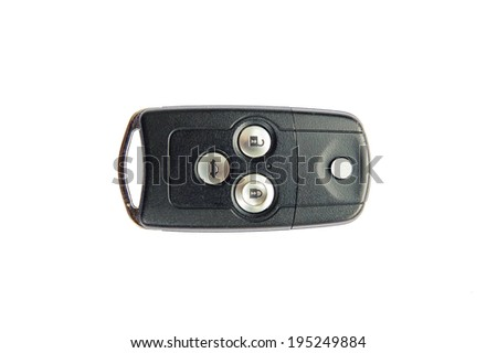 Remote car key, isolate on a white background. - stock photo