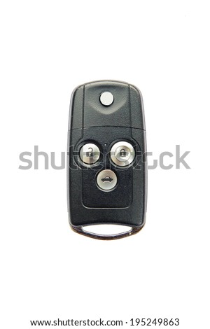 Remote car key, isolated on a white background.