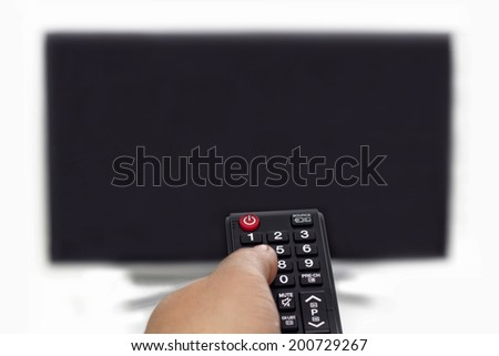 Remote Control and TV