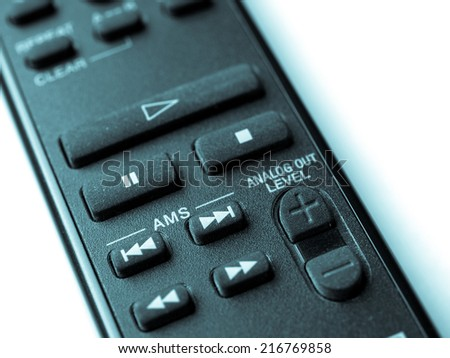 Remote control - cool cyanotype - stock photo