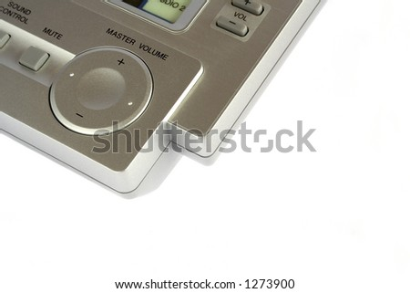 Remote control in white background