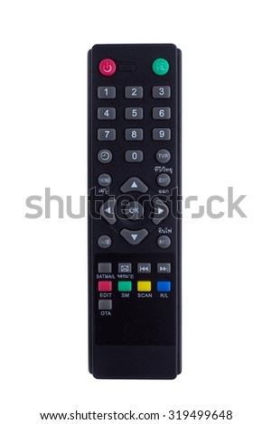Remote control. Isolated on white background - stock photo