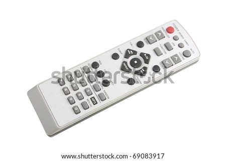Remote Control isolated on white background with clipping path - stock photo