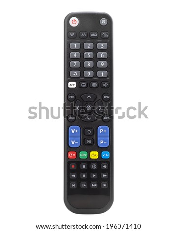remote control tv isolated  - stock photo