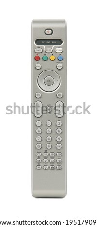 Remote control tv isolated on white. Vertical - stock photo