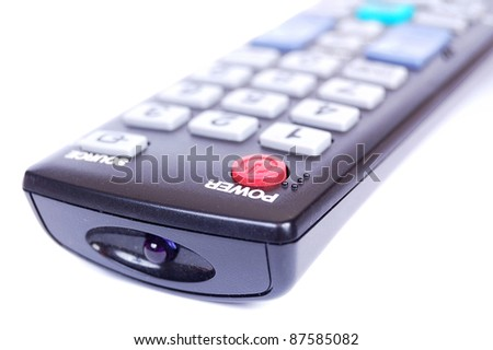 Remote control unit for a television set