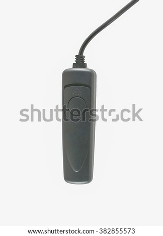 Remote shutter.Black cable shooter release for dslr camera.