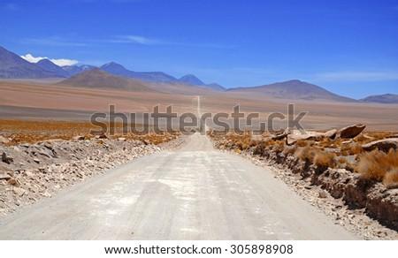 Remote wilderness in Atacama Desert, Chile - stock photo