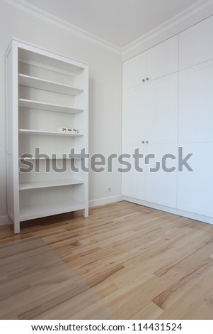 Removal - spacious and empty white room. - stock photo