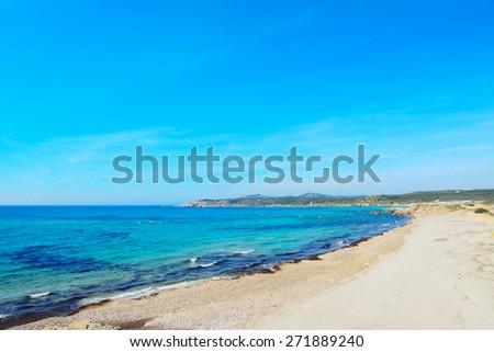 Rena Majore on a clear day, Sardinia - stock photo