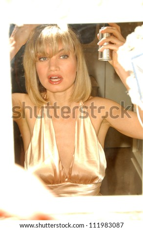 Rena Riffel Prepares to attend the 2007 Oscar Parties, Private Location, Hollywood, CA 02-25-07