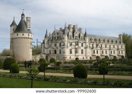 Renaissance castle Chenonceau in Loire valley, France - stock photo
