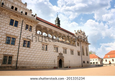 Renaissance castle Litomysl, Czech republic, World Heritage Site by UNESCO