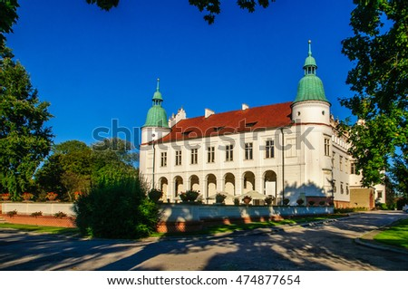 "Renaissance palace in Baranow Sandomierski (Poland), often called ""little Wawel"""