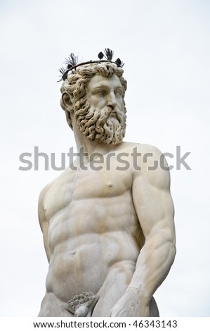 Renaissance sculpture of Neptune in Florence, Italy