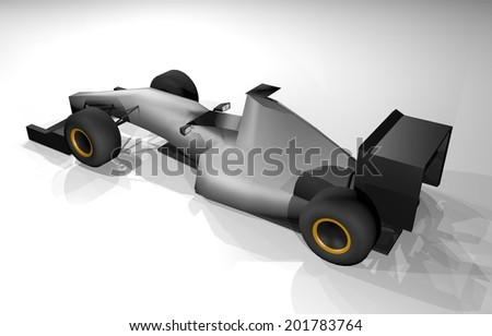 Render car - stock photo