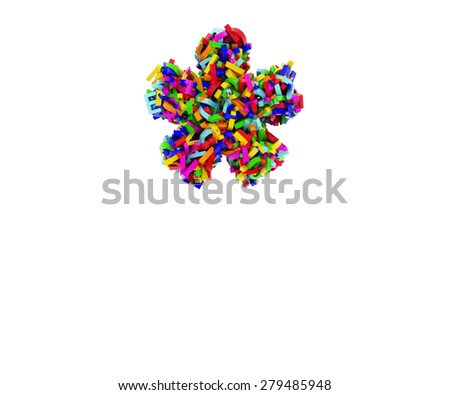 render multiply made up of letters - stock photo