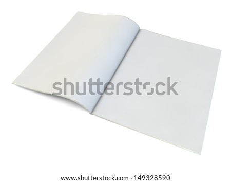 render of a blank magazine - stock photo