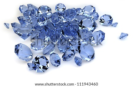 render of a group of diamonds