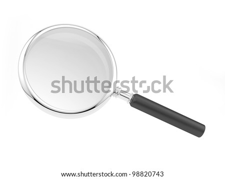render of a magnifying glass