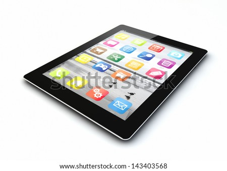 render of a tablet pc