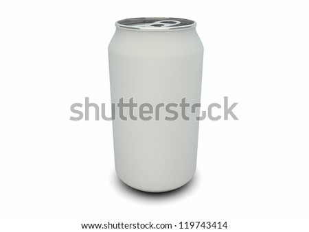 render of an empty white can