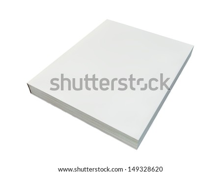 render of blank book cover - stock photo
