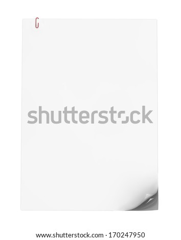 render of blank clipped papers - stock photo