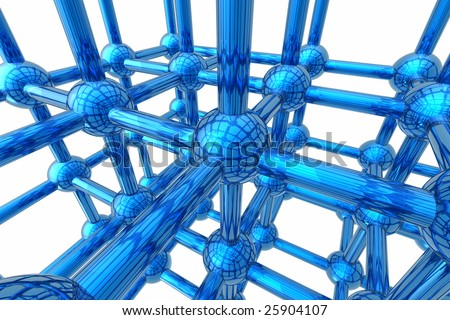 Render of molecule isolated in white background
