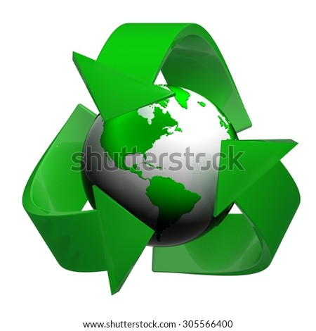 Render of Recycling Symbol