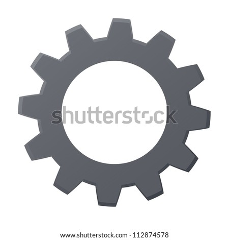 Rendered gears isolated against a white background - stock photo
